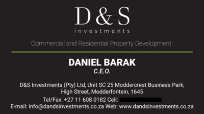 D&S Business Card