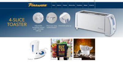 Pineware website screenshot