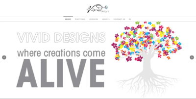 Vivid Designs website screenshot
